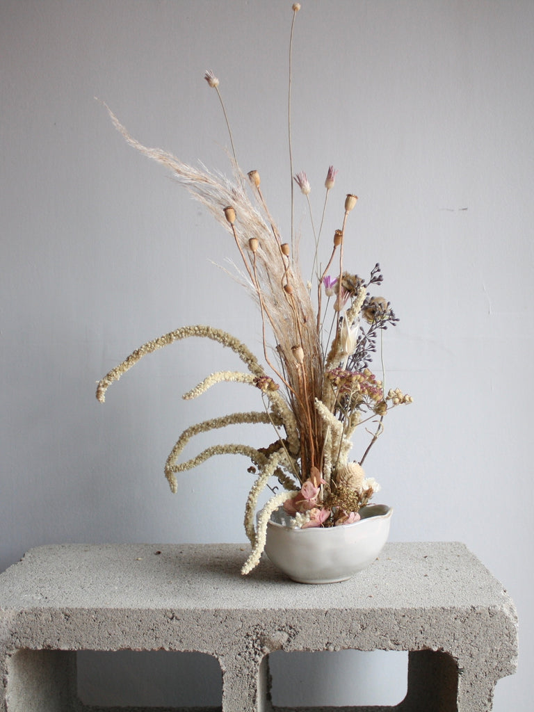 Everlasting Ikebana-Inspired Petite Bowl Arrangement (Made to Order)