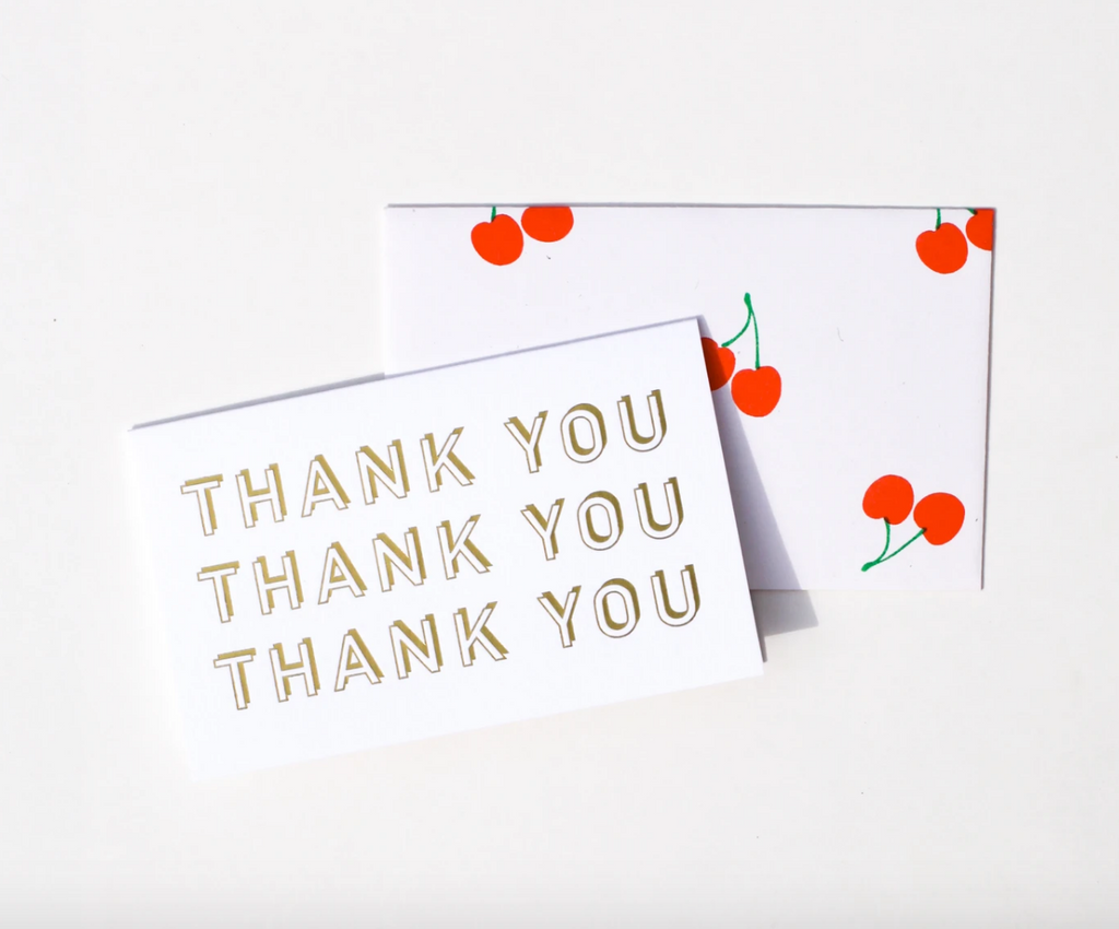 Gold Thank You Card