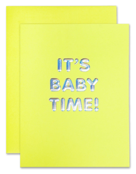 It's Baby Time Card