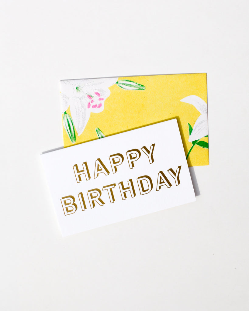 Gold Birthday Card