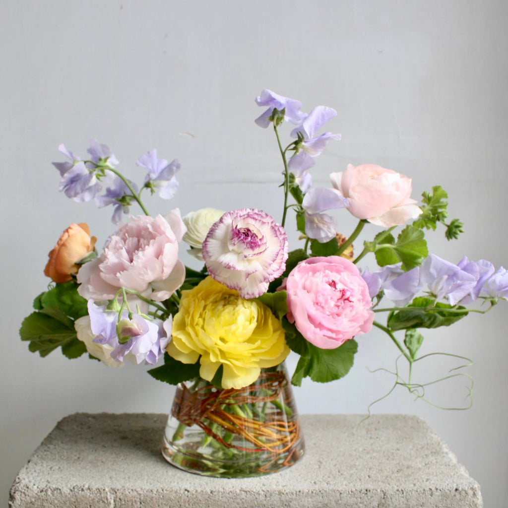 Mother's Day Edit: Peony & Ranunculus Arrangement (Standard)