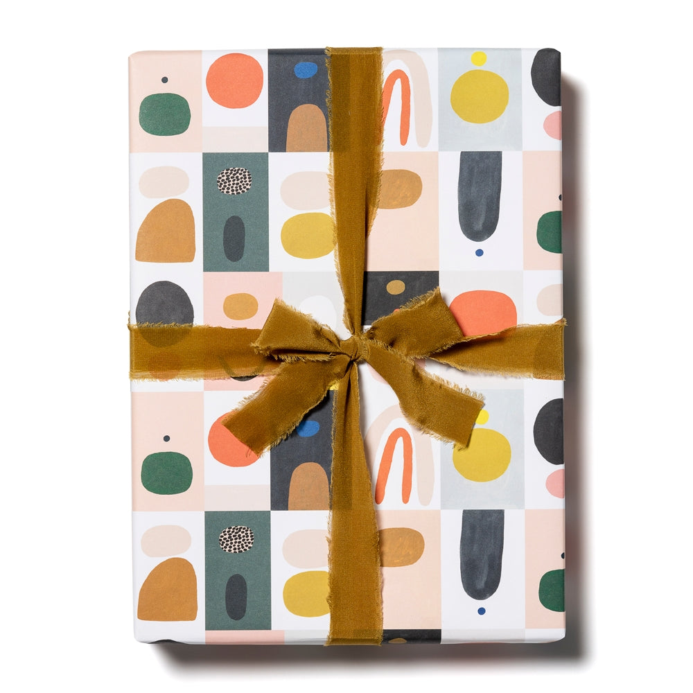Color Block Wrapping Paper Sheets