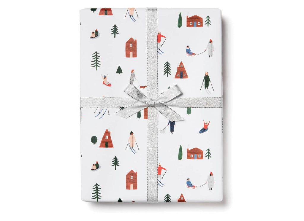 Snow Day Wrapping Paper Sheets