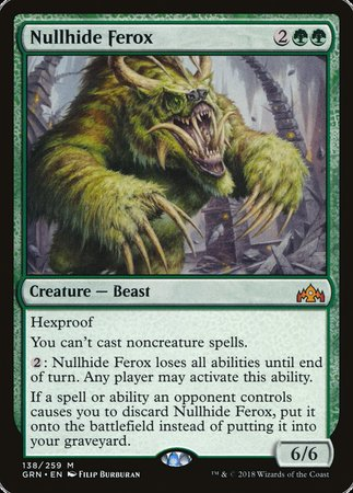 Nullhide Ferox [Guilds of Ravnica] | TCG Master