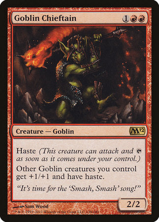 Goblin Chieftain [Magic 2012] | TCG Master
