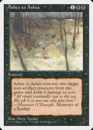 Ashes to Ashes [Fourth Edition] | TCG Master