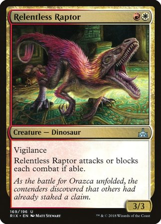 Relentless Raptor [Rivals of Ixalan] | TCG Master