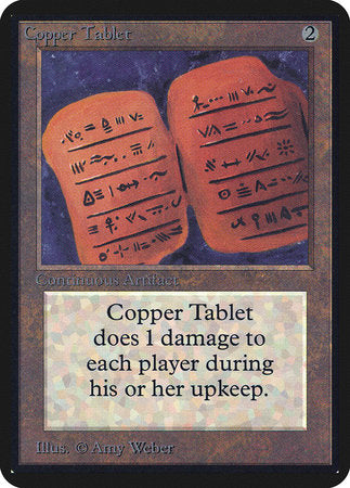 Copper Tablet [Limited Edition Alpha] | TCG Master