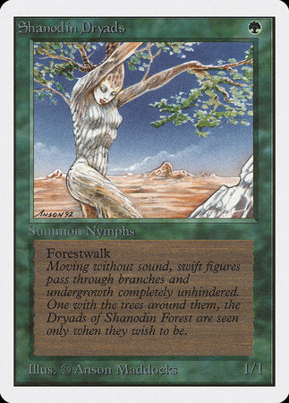 Shanodin Dryads [Unlimited Edition] | TCG Master