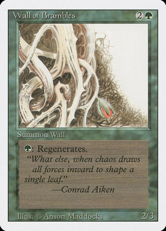 Wall of Brambles [Revised Edition] | TCG Master