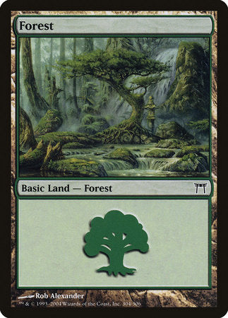 Forest (304) [Champions of Kamigawa] | TCG Master