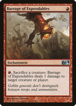 Barrage of Expendables [Magic 2014] | TCG Master