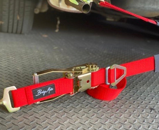 BridgeMoto Ratchet Tie Down Strap