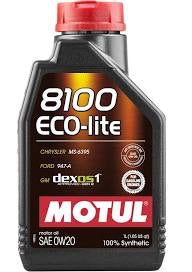 Motul 0W-20  8100 Eco-Lite 1L bottle