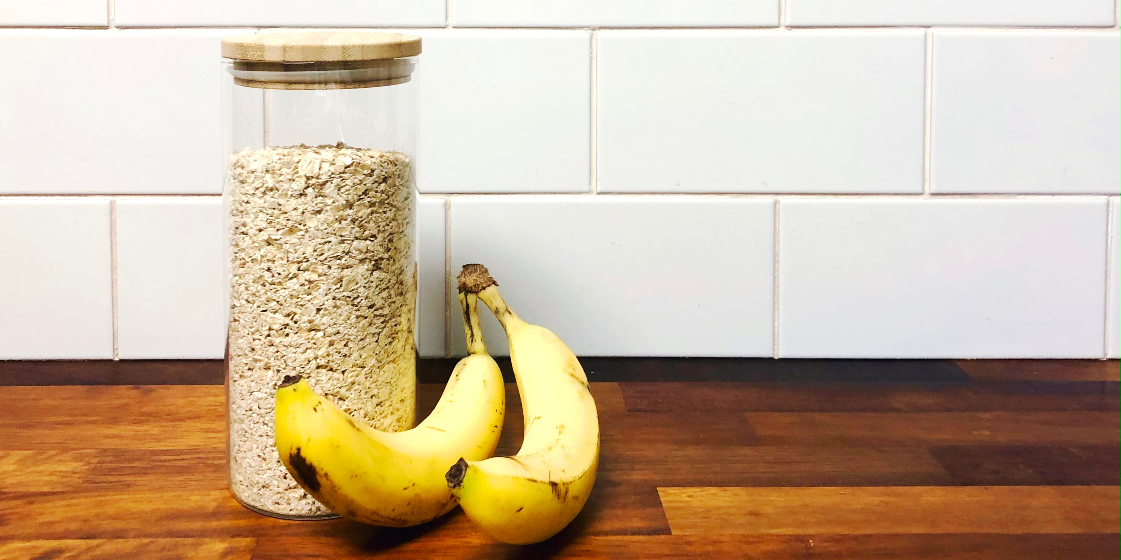 oats and bananas for easy cookie recipe