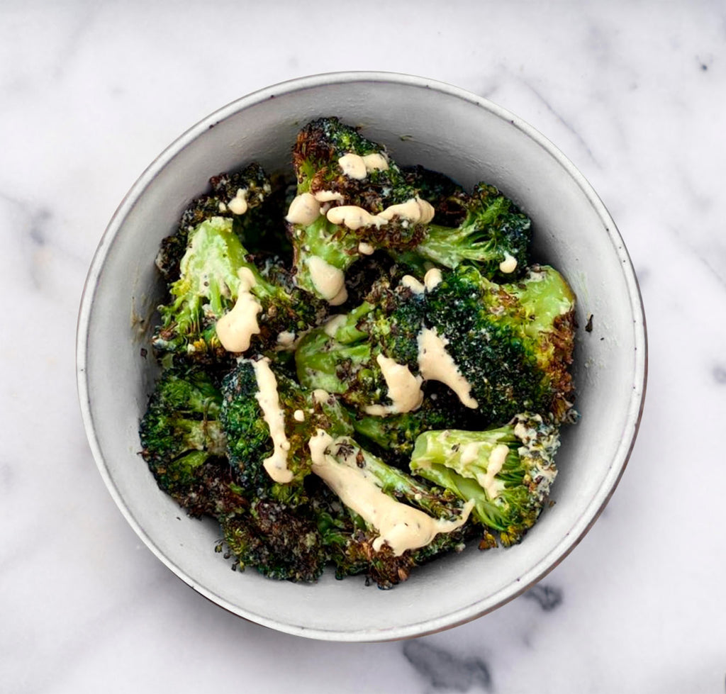 Charred Tahini Broccoli
