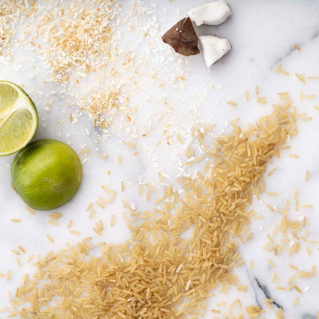 Wholegrain Rice with Toasted Coconut and Lime