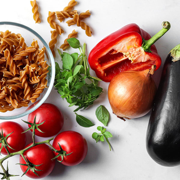 Fusilli all'Arrabbiata with Ratatouille