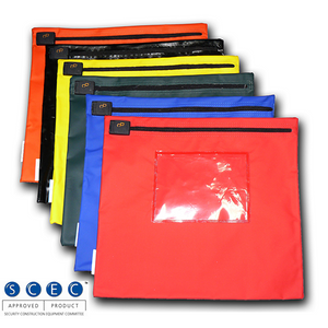 DC satchels SCEC approved tamper evident clip image of colours available