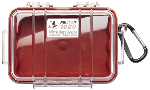 1020 Pelican Micro Case Red/Clear
