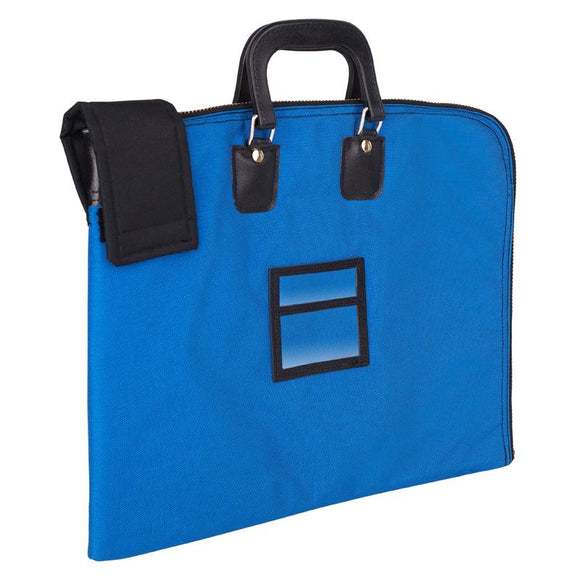 Fire shield locking security briefcase satchel blue