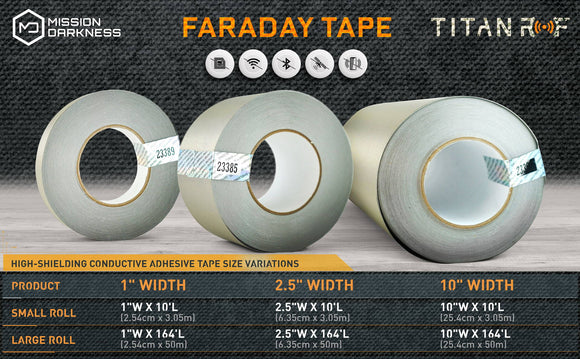 MISSION DARKNESS™ TITANRF TITANRF FARADAY TAPE