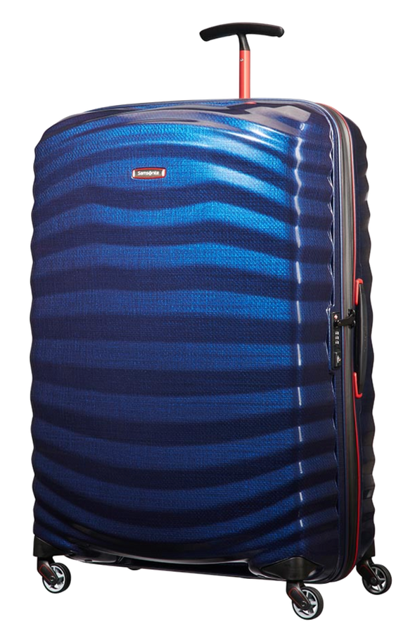Samsonite Lite-Shock 81cm Spinner Nautical Blue/Red