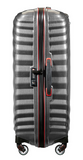 Samsonite Lite-Shock Sport 75cm Spinner Eclipse Grey/Red side TSA lock