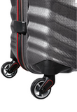 Samsonite Lite-Shock Sport 75cm Spinner Eclipse Grey/Red wheel
