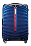 Samsonite Lite-Shock Sport 75cm Spinner Nautical Blue/Red back