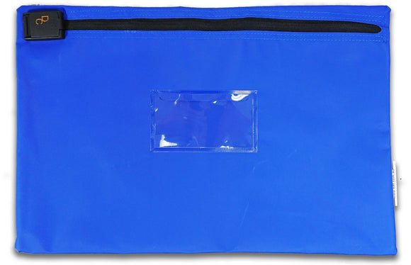 SCEC security document holder satchel in blue