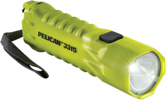 Pelican torch 3315 yellow side view