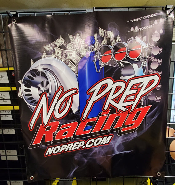 No Prep Racing Track Banner OG Style SUPERSIZED