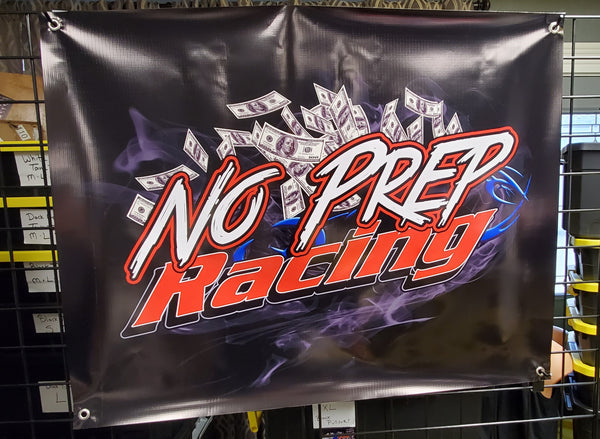 No Prep Racing Track Banner LARGER VERSION