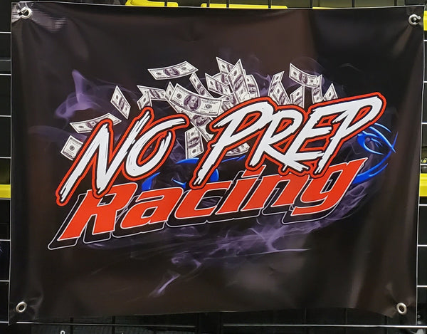 No Prep Racing Track Banner SMALLER VERSION