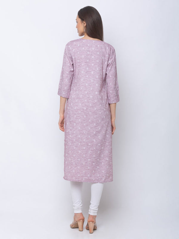ZOLA Textured Regular Kurti with Pockets - Designed with yarn died fabric, this kurta features bright fun colors with pockets. Draw compliments on any occasion by teaming up with palazzos/Ghararas.