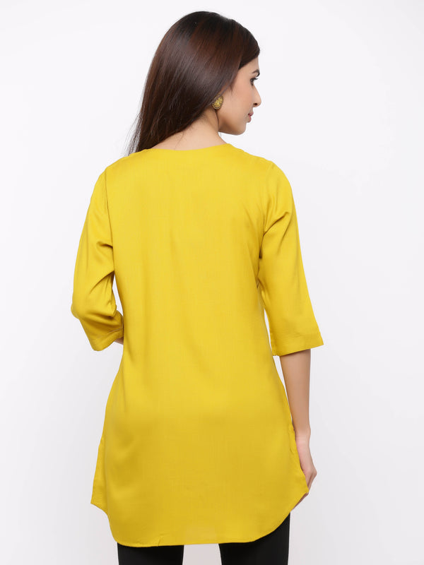 Plain Bright Colured Tunic Mustard