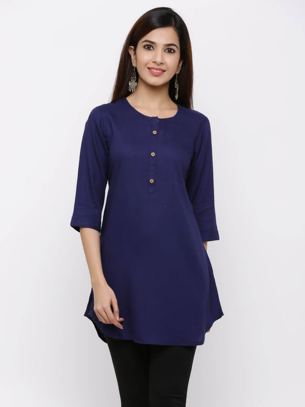 ZOLA Solid Colored Plain Bright Tunic / Short Kurta