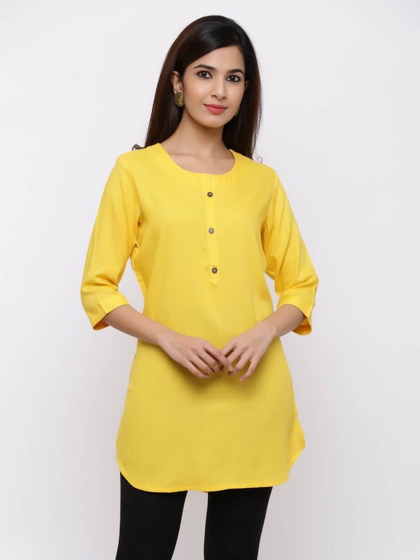 Plain Bright Colured Tunic Yellow