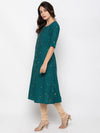 Rama Green Cotton Kurti