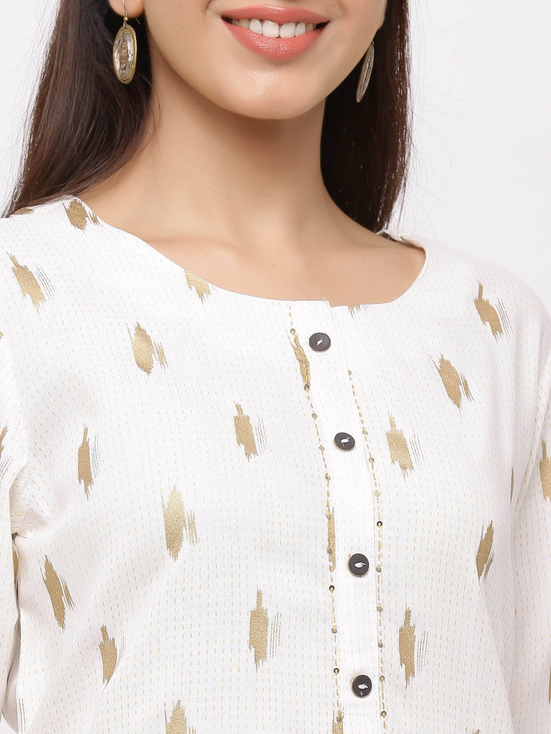 Exuberant Kurti with Plazo – Beige