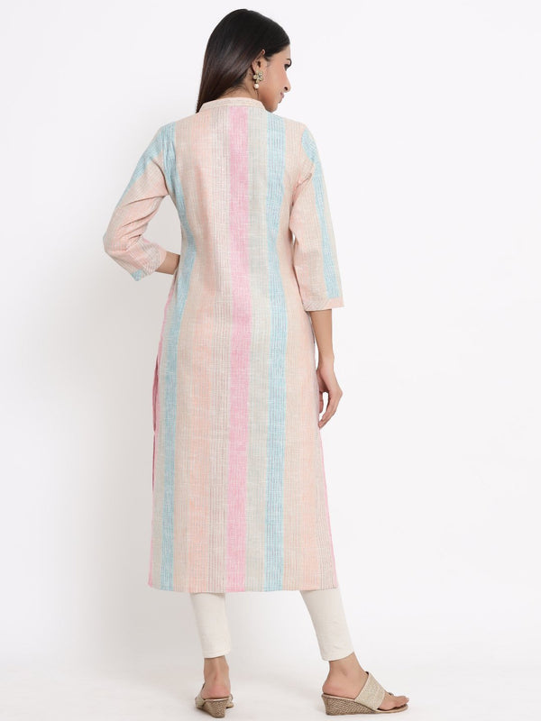 ZOLA Multicolor A-Line Kurti for Women