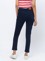 ZOLA Pencil Fit Culottes Length Jeans for Women