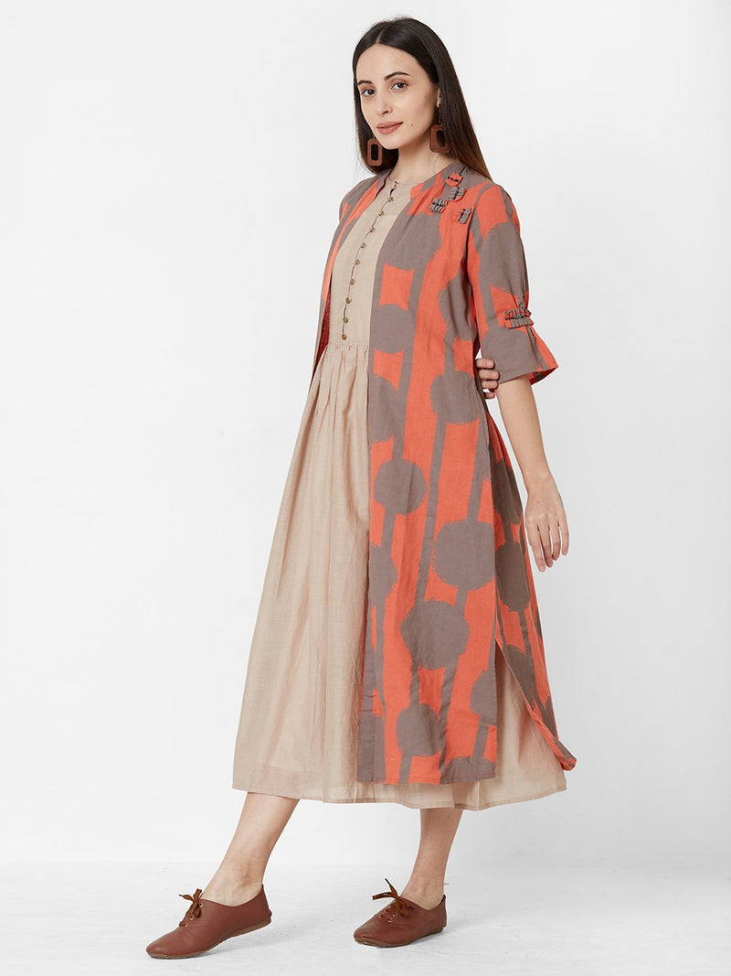 ZOLA Three separate Layered Dress with long Jacket