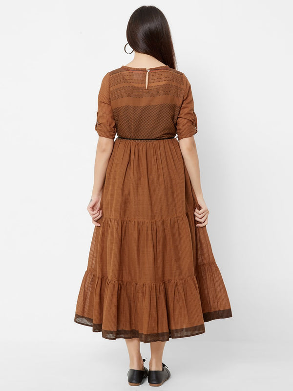 ZOLA Two Layered dress with Fabric Belt