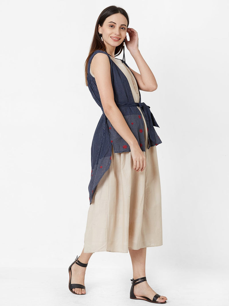 Two Layered Tent Dress with Jacket