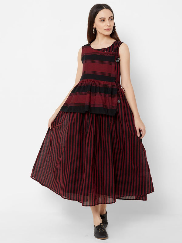 Two layered Striped Tent dress