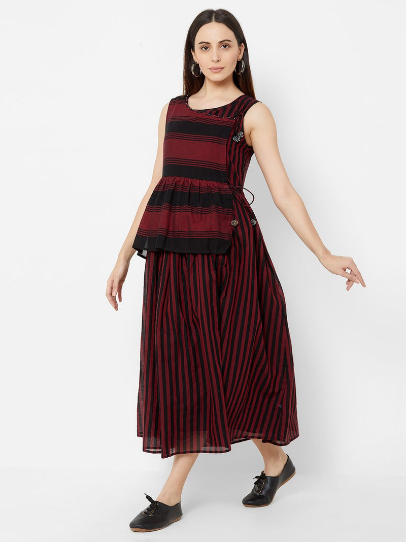 ZOLA Two layered Striped Tent dress