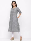 Grey Yarn dyed Cotton Kurti