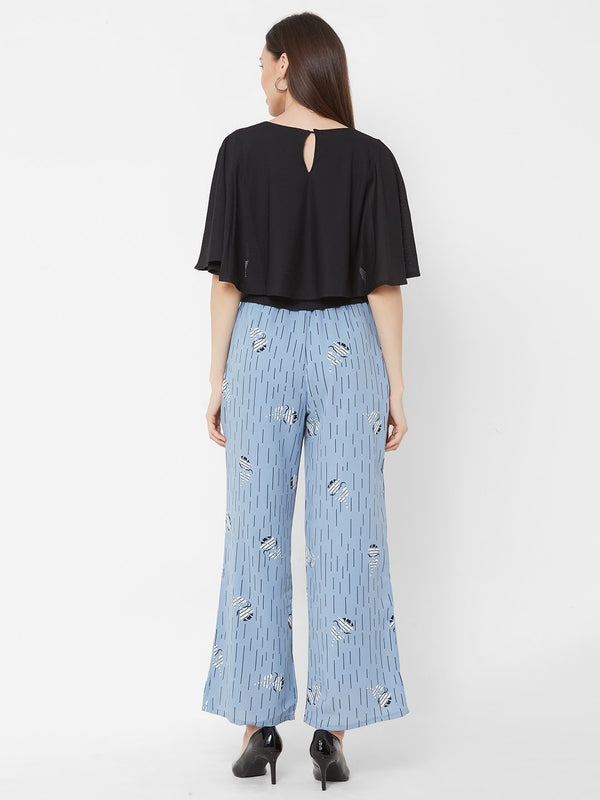 ZOLA Embellished Top + Printed Pants + Pockets